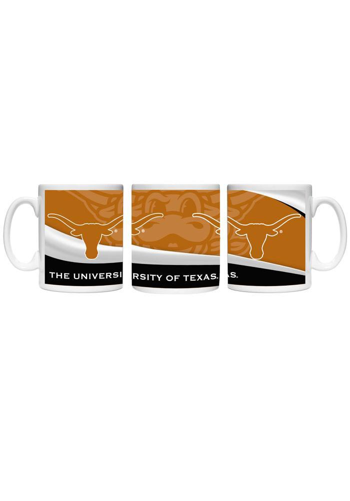 Texas Longhorns 15 oz Wavey Ceramic Mug - Image 1