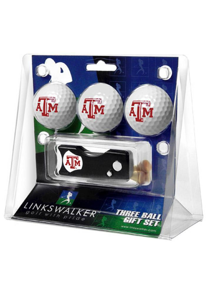 Texas A&M Aggies 3pk Golf Balls and Spring Action Golf Gift Set