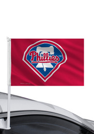 Philadelphia Phillies 11x14 Double Sided Red Polyester Car Flag - Red