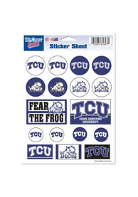 TCU Horned Frogs 5x7 Sheet of Stickers