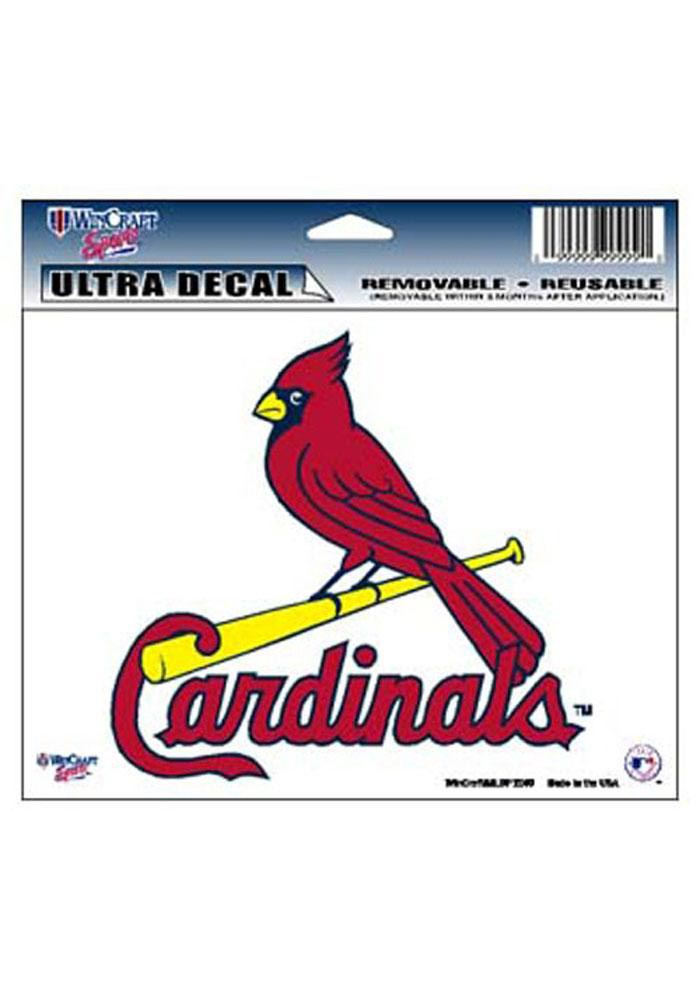 St Louis Cardinals 5X6 Multi Use Auto Decal - Red - Image 1