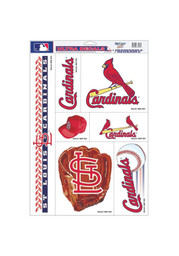 St Louis Cardinals 11x17 Multi-Use Auto Decal - Red