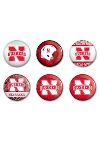 Nebraska Cornhuskers 6pk Button