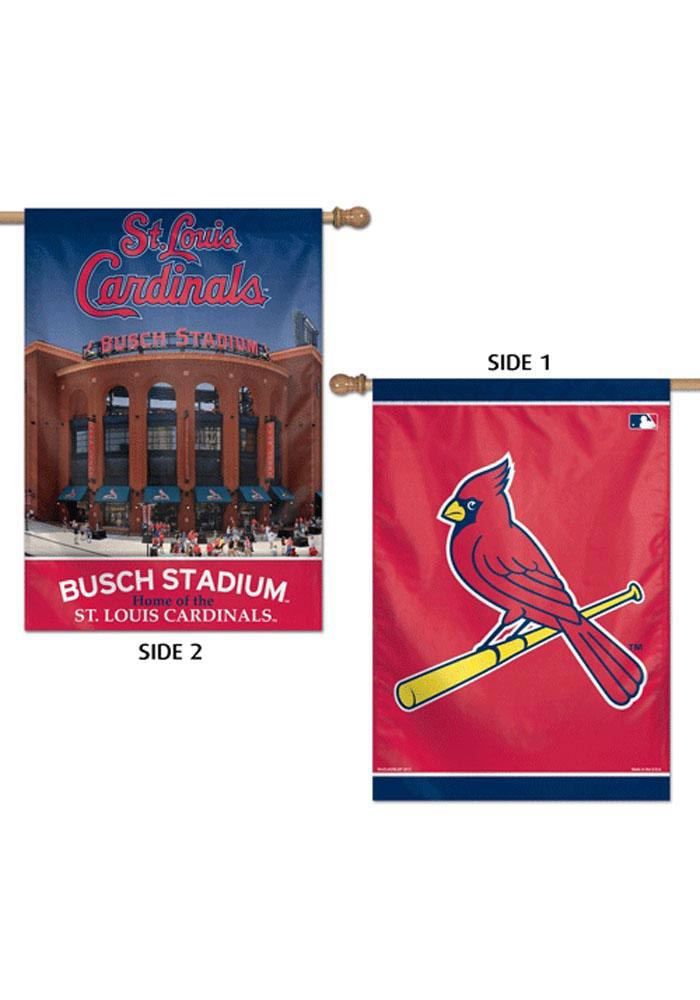 St Louis Cardinals 28x40 2 Sided Silk Screen Banner - Image 1
