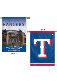 Texas Rangers 28x40 2 Sided Silk Screen Banner