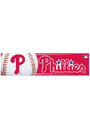Philadelphia Phillies 3x12 Auto Bumper Sticker