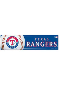 Texas Rangers 3x12 Bumper Sticker - Grey