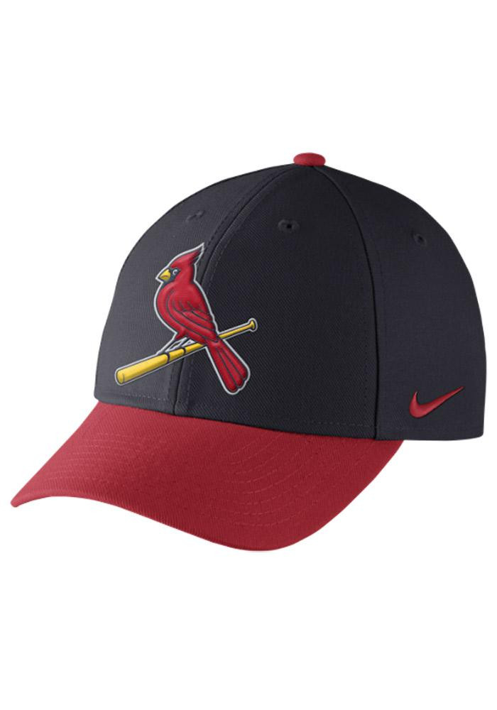 Nike St Louis Cardinals Mens Navy Blue Dri Fit Wool Classic Adjustable Hat - Image 2