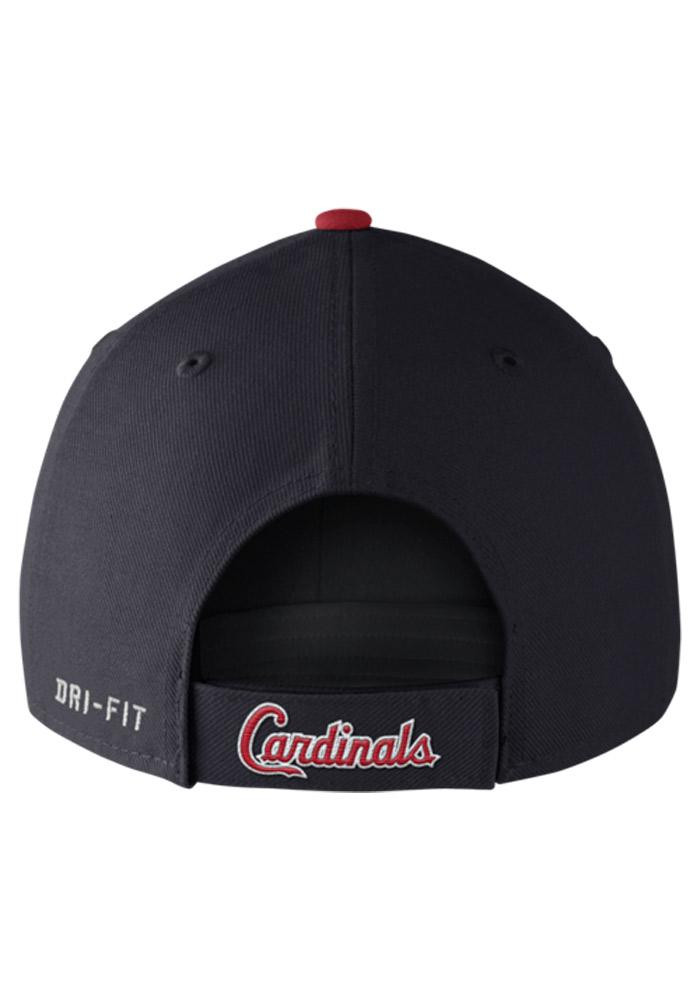 Nike St Louis Cardinals Mens Navy Blue Dri Fit Wool Classic Adjustable Hat - Image 3