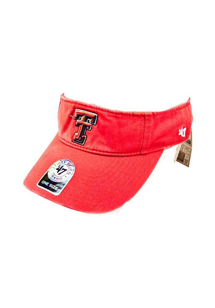 '47 Texas Tech Red Raiders Mens Red Clean Up Adjustable Visor - Image 1