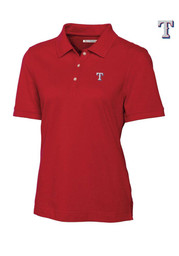 Cutter and Buck Texas Rangers Womens Red Ace Polo