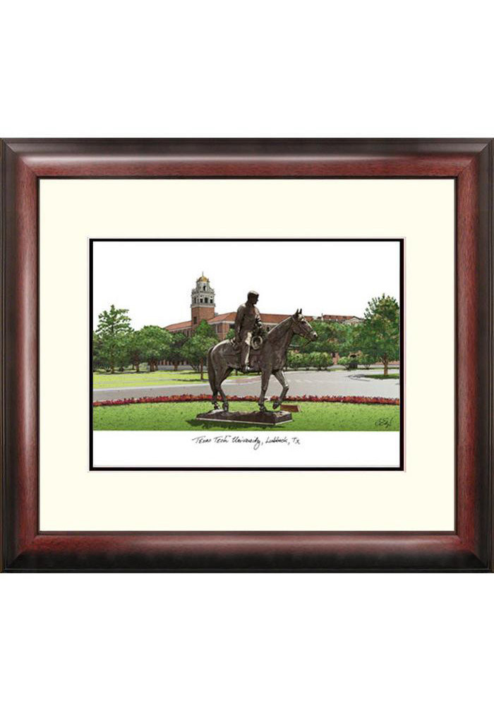 Texas Tech Red Raiders Campus Print Picture Frame - Image 1