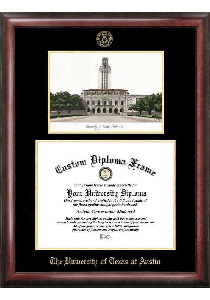 Texas Longhorns Diploma Picture Frame - Image 1