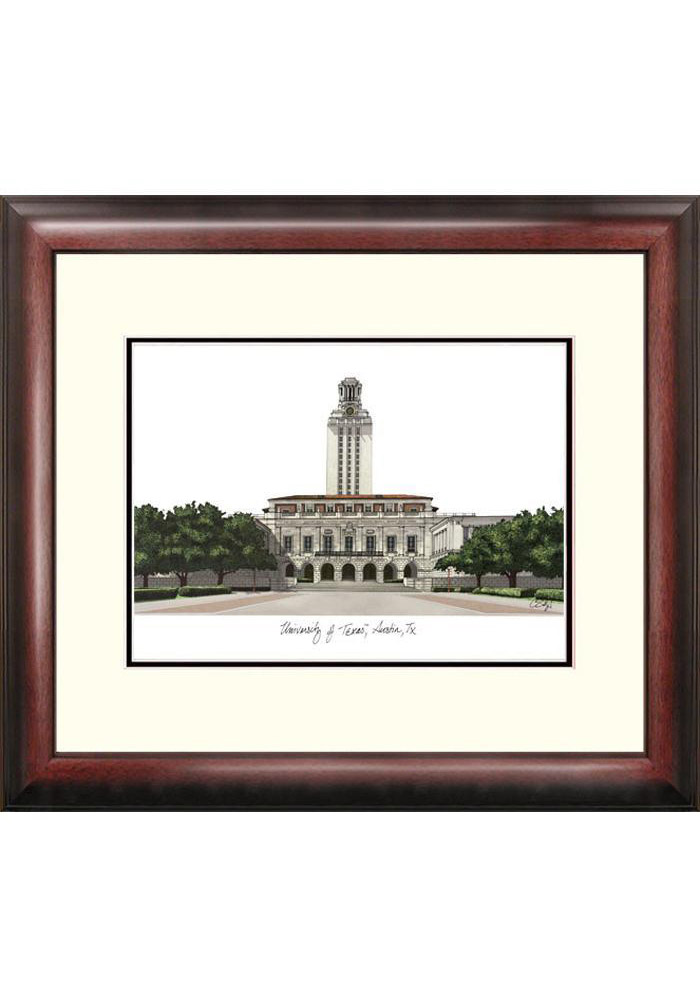 Texas Longhorns Campus Print Picture Frame - Image 1