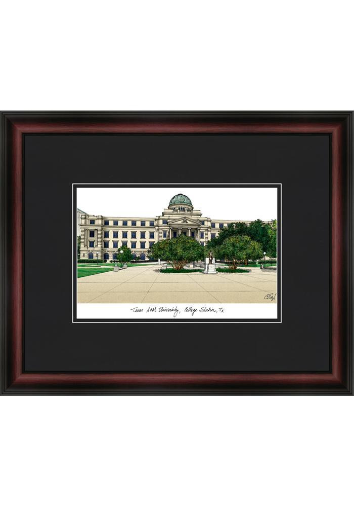 Texas A&M Aggies Campus Print Framed Posters - Image 1
