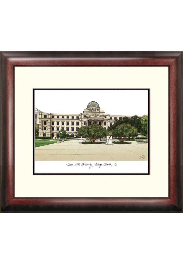 Texas A&M Aggies Campus Print Picture Frame - Image 1