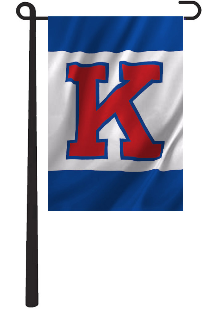 Kansas Jayhawks 13x18 Blue and White Garden Flag