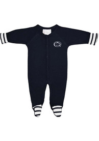 Penn State Nittany Lions Baby Striped Footie Navy Blue Striped Footie One Piece Pajamas