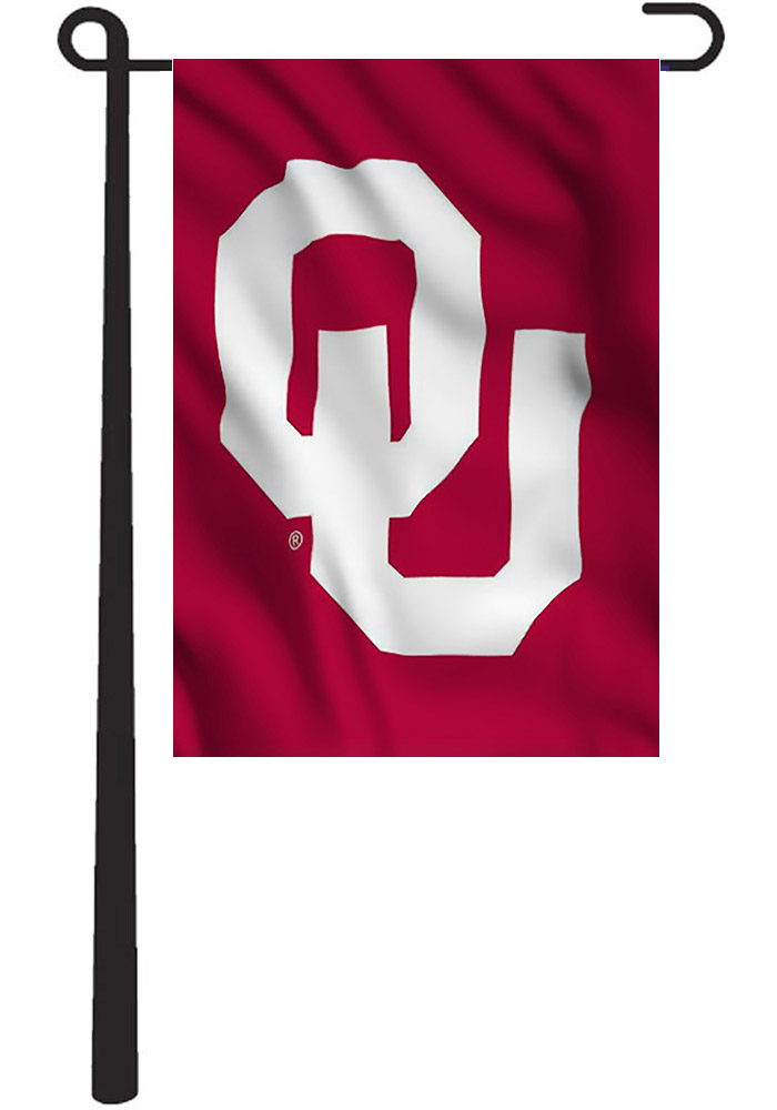 Oklahoma Sooners 12.5x18 Red Garden Flag - Image 1