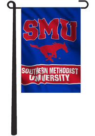 SMU Mustangs 13x18 Blue Garden Flag