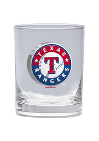 Texas Rangers 14oz Clear Rock Glass