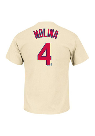 Yadier Molina Majestic St Louis Cardinals Kids Oatmeal Player Tee