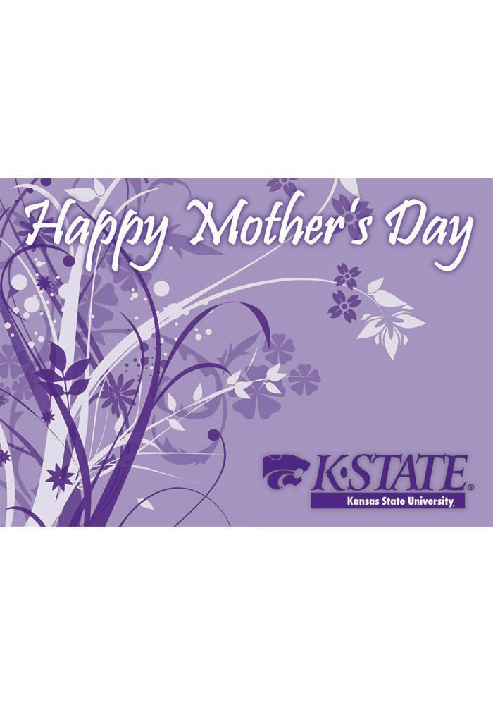 K-State Wildcats Mothers Day Card - Image 1