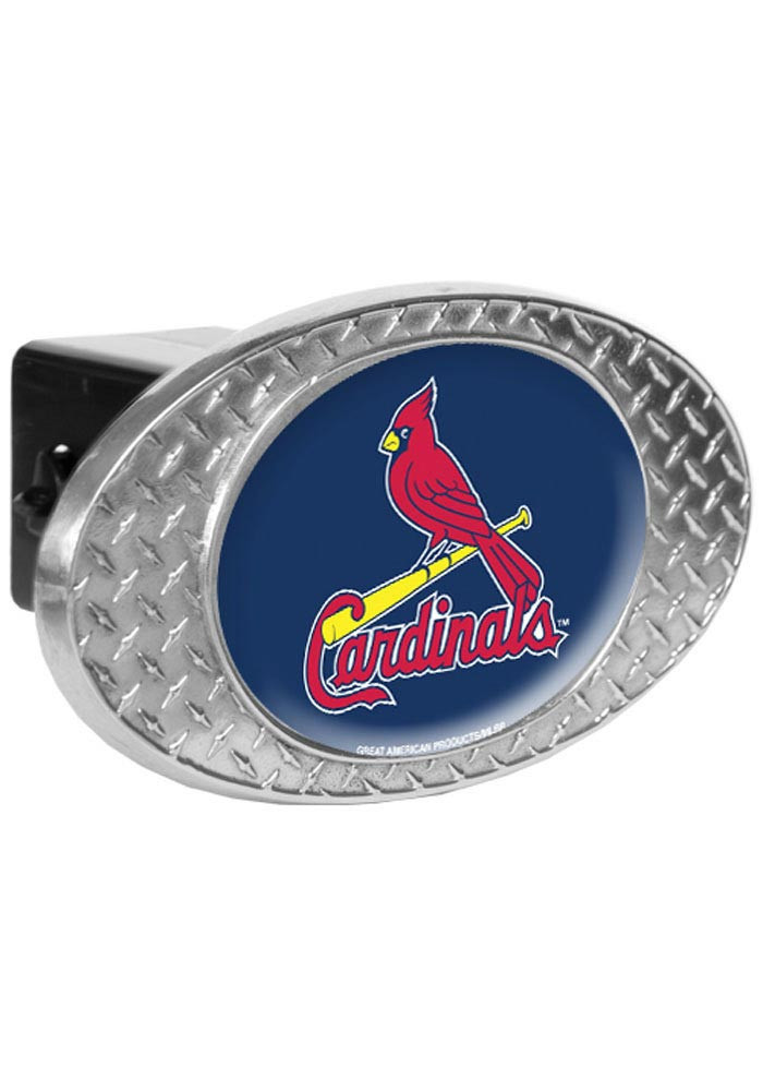 St Louis Cardinals Diamond Plate Car Accessory Hitch Cover - Image 1