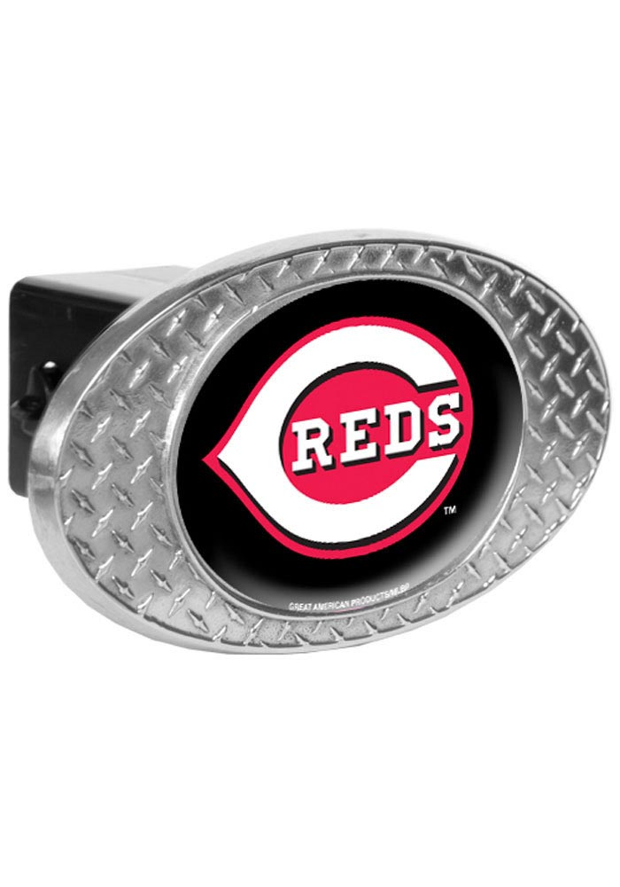 Cincinnati Reds Diamond Plate Car Accessory Hitch Cover - Image 1
