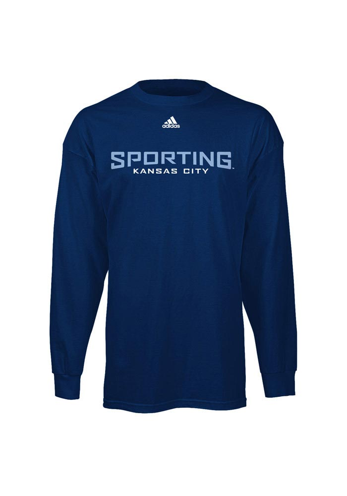 Adidas Sporting Kansas City Navy Blue Primary Long Sleeve T Shirt - Image 1