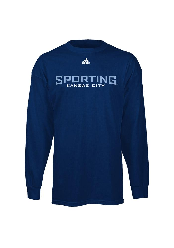 Adidas Sporting Kansas City Navy Blue Primary Long Sleeve T Shirt - Image 2