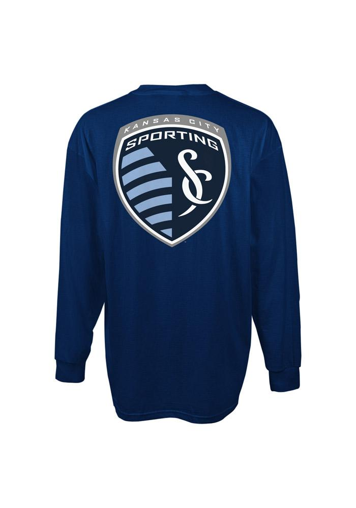 Adidas Sporting Kansas City Navy Blue Primary Long Sleeve T Shirt - Image 3