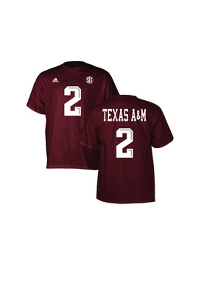 Texas A&M Aggies Youth Maroon Replica #2 Short Sleeve T-Shirt - Image 1