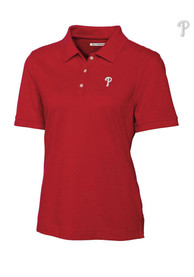 Cutter and Buck Philadelphia Phillies Womens Red Ace Polo