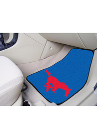 Sports Licensing Solutions SMU Mustangs 2-Piece Carpet Car Mat - Blue