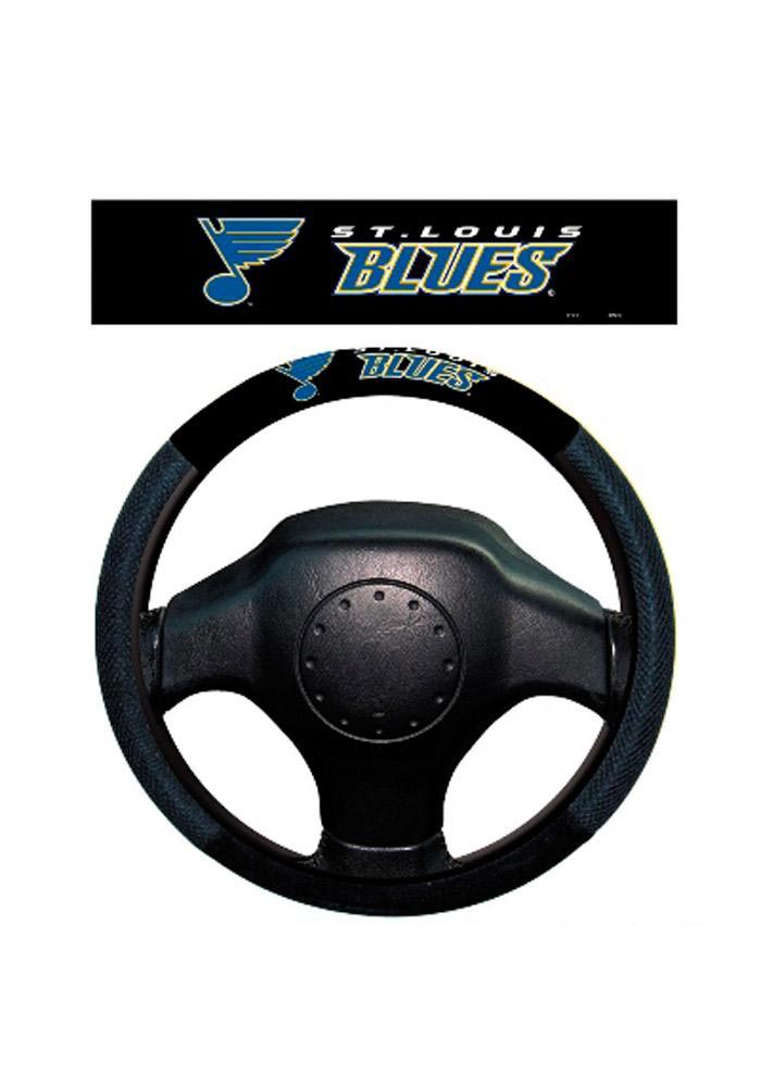 St Louis Blues Poly-Suede Auto Steering Wheel Cover - Image 1
