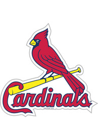 St Louis Cardinals 12 Inch Logo Car Magnet - Red