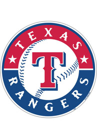 Texas Rangers 12 Inch Logo Car Magnet - Red