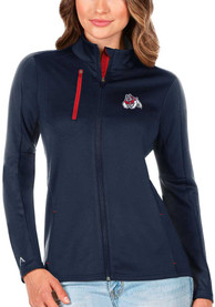 Fresno State Bulldogs Womens Antigua Generation Light Weight Jacket - Navy Blue