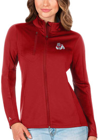 Fresno State Bulldogs Womens Antigua Generation Light Weight Jacket - Red