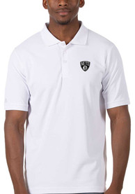 Brooklyn Nets Antigua Legacy Pique Polo Shirt - White