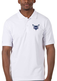 Charlotte Hornets Antigua Legacy Pique Polo Shirt - White