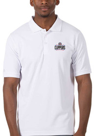 Los Angeles Clippers Antigua Legacy Pique Polo Shirt - White