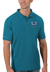Charlotte Hornets Antigua Legacy Pique Polo Shirt - Blue