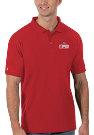 Los Angeles Clippers Antigua Legacy Pique Polo Shirt - Red