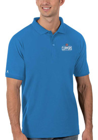 Los Angeles Clippers Antigua Legacy Pique Polo Shirt - Blue