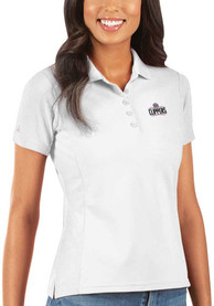 Los Angeles Clippers Womens Antigua Legacy Pique Polo Shirt - White