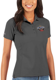 New Orleans Pelicans Womens Antigua Legacy Pique Polo Shirt - Grey
