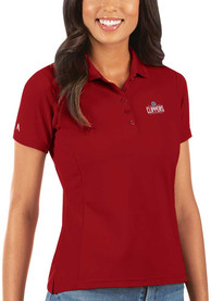 Los Angeles Clippers Womens Antigua Legacy Pique Polo Shirt - Red