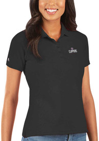 Los Angeles Clippers Womens Antigua Legacy Pique Polo Shirt - Black